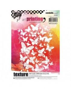 Textura de caucho Art printing butterflies de carabelle.