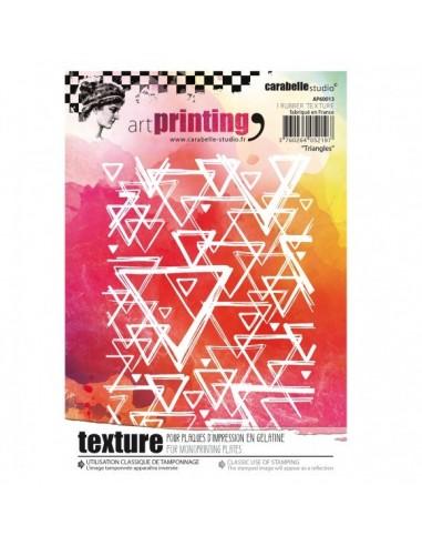 Textura de caucho Art printing triangles de carabelle.
