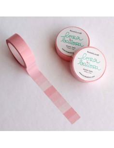 Washi Tape Degradado Rosa Pastel de Lora Bailora
