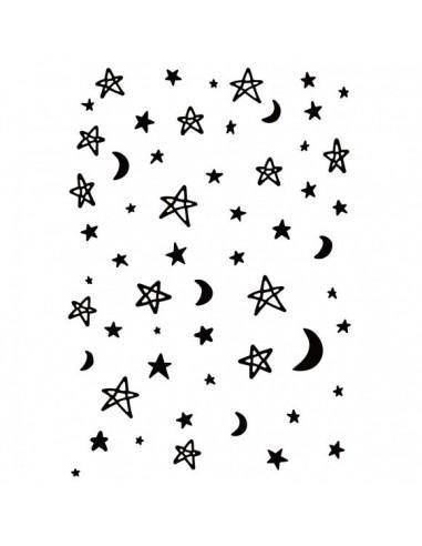 Carpeta de embossing moon and stars