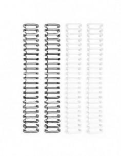 Espirales cinch blanco y negro