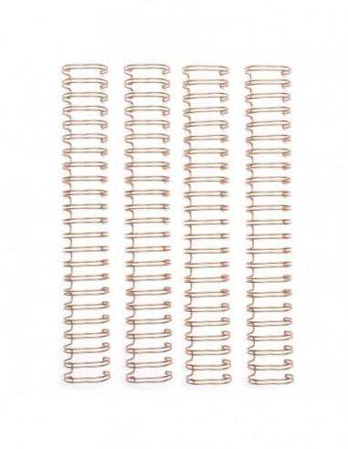 Espirales cinch oro rosa
