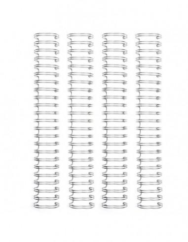 Espirales cinch plateadas