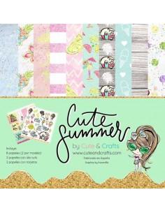 Kit 12 papeles Cute Summer
