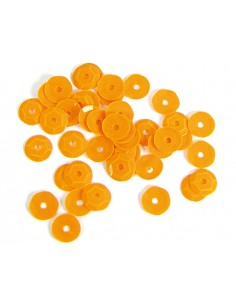 Lentejuela opaca naranja