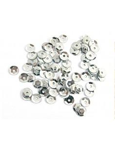 Lentejuela metalizada  plata