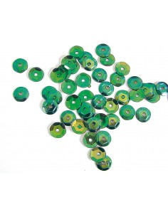 Lentejuela iridiscente verde