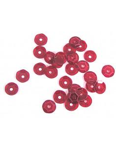 Lentejuela transparente rojo