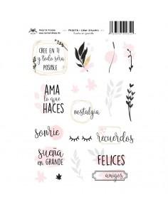 Clear Stickers Sueña en Grande