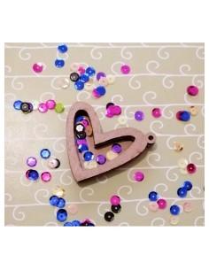 Mini shaker corazón 3 cm