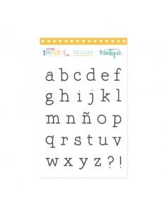 Sello Alfabeto máquina de...
