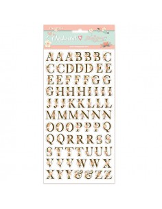 Chipboard ABC Love Story