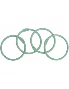 4 anillas de 35 mm VERDE...