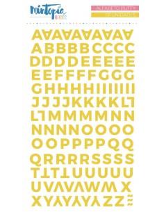 Alfabeto puffy Básico Amarillo