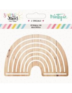 Arcoiris de madera 9 cm...