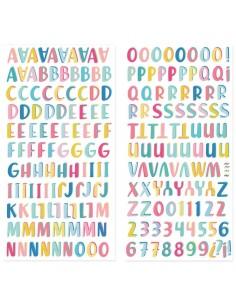 Alfabeto chipboard Summer...