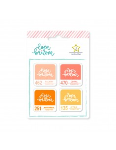 Set de tintas Peach Lora...
