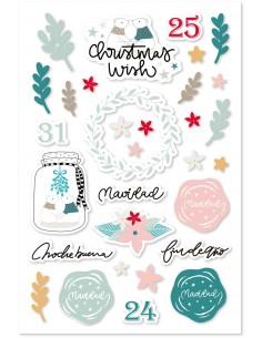 Vellum stickers CHRISTMAS WISH