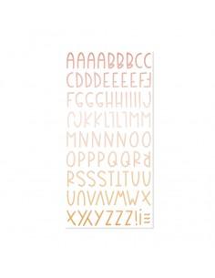 Alfabeto chipboard Aloha