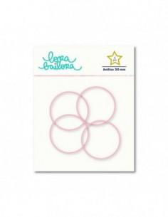 4 anillas de 30 mm Rosa