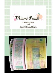 Set de washi tapes MIAMI PEACH