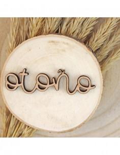 Palabra de madera OTOÑO