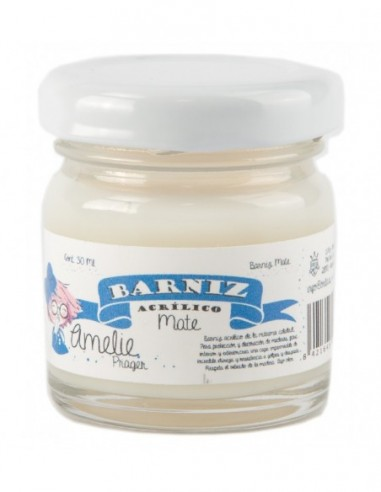 Barniz al agua mate 30 ml Amelie
