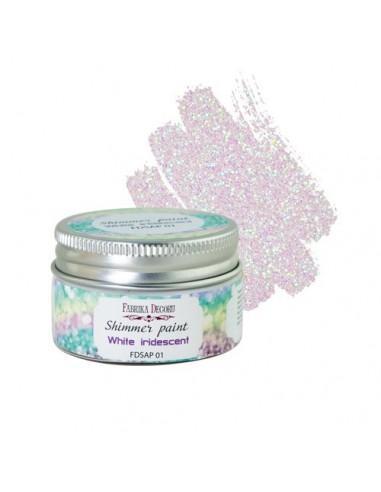 Shimmer White Iridescent