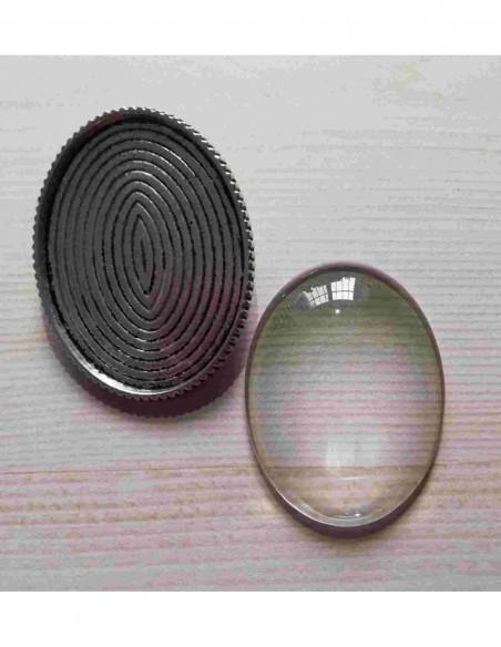 Kit broche 30x40mm plata